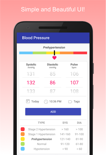Blood Pressure Diary 0.1.15 screenshots 1