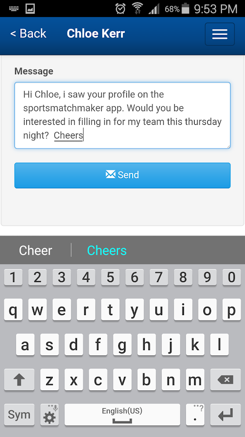 SportsMatchMaker.com.au- screenshot