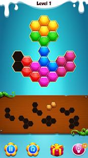 Hexagon puzzle blok - náhled