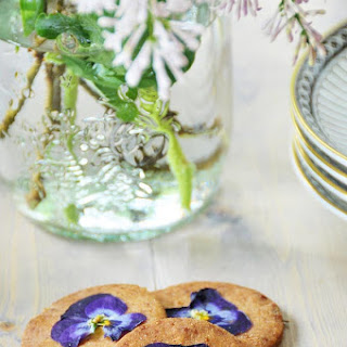 Lavender and Vanilla Bean Shortbread Cookies.