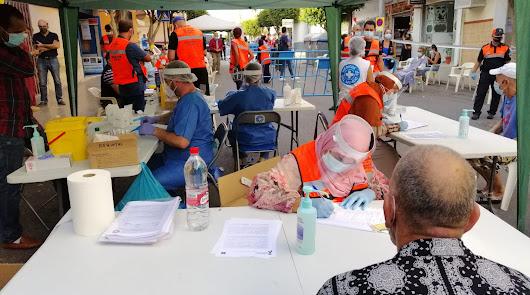 Unos 800 test rápidos de Covid en las calles de El Ejido en una semana