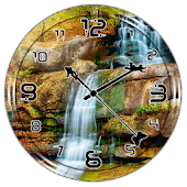 Waterfall Clock Live Wallpaper