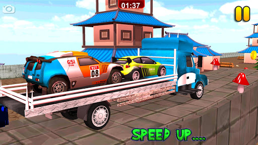 Multi Truck Euro Car Transporter Game 2018 Free 1.0 screenshots 5