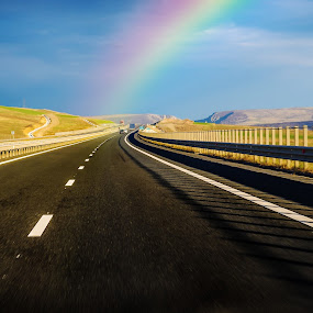 Looking for the summer   by Hurghis Vasile - Transportation Roads ( different, skyline, life, still life, colors, travel, road, rainbow, discovery, exotic, light )