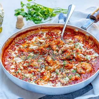 Quick & Easy Clean Eating Mediterranean Shrimp Skillet Recipe