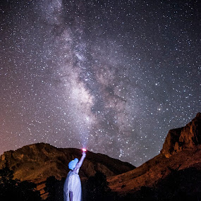 Touch the Milky way by Allal Fadili - Uncategorized All Uncategorized ( skyline, todra gorge, iso, d700, stars, street, allal, todra, night, nikon, galaxy, milky way )