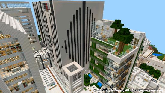 скачать карты современного города для minecraft pe город