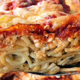 Easy Baked Spaghetti.