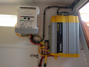 Photo: Battery charger and inverter installation complete
