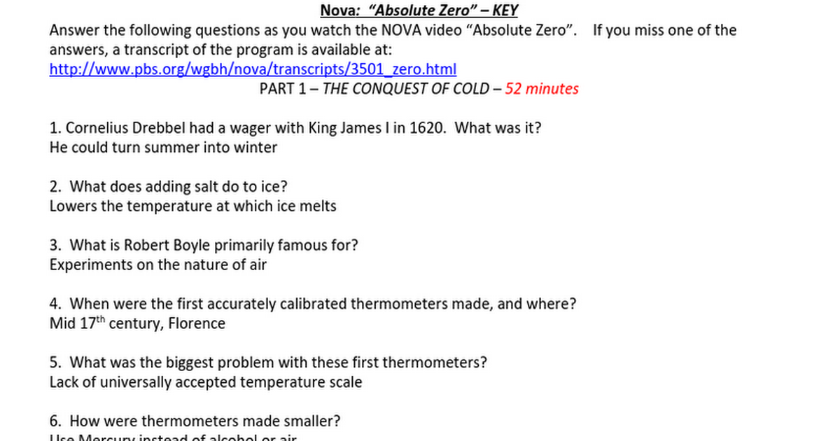 absolutezero video worksheet key google docs. Black Bedroom Furniture Sets. Home Design Ideas