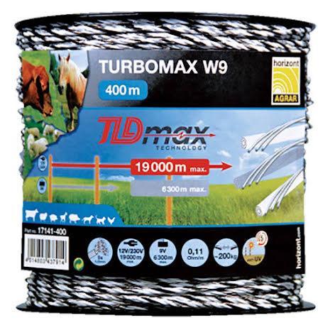 Eltråd Horizont Turbomax W9 400 Meter. 0,11 Ohm/m