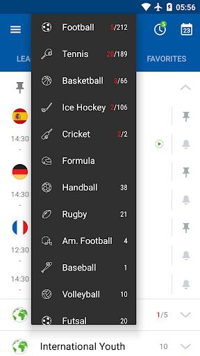 SofaScore - Live Scores, Fixtures & Standings 5.78.4 screenshots 1