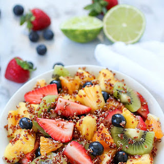 Quinoa Fruit Salad with Sweet Lime Dressing