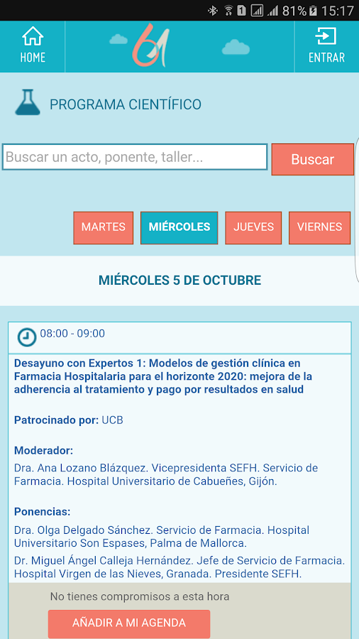 SEFH 16 – 61 Congreso en Gijón- screenshot