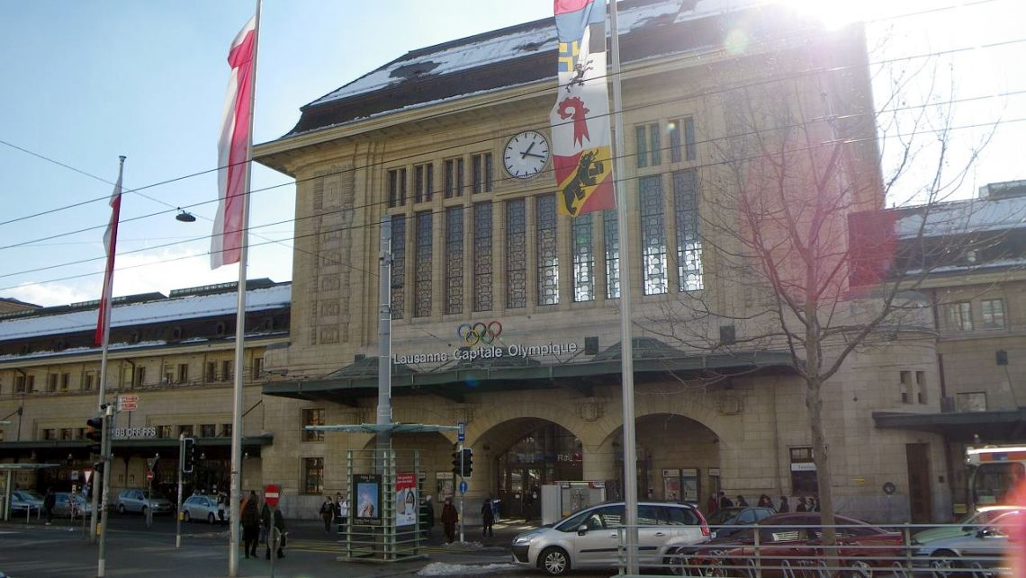 Железнодорожный вокзал в Лозанне