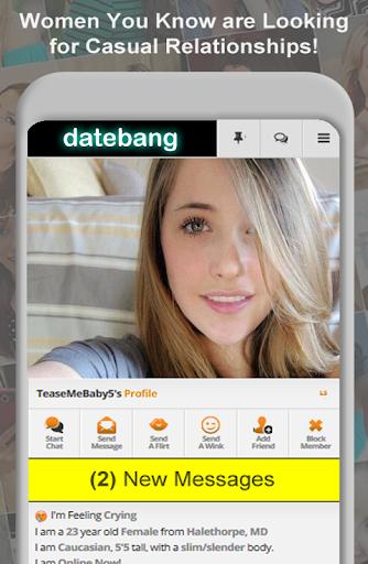 DateBang Free Hookup Dating 1.0 screenshots 1