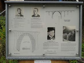 Photo: Infotafel beim der Station Wiesen