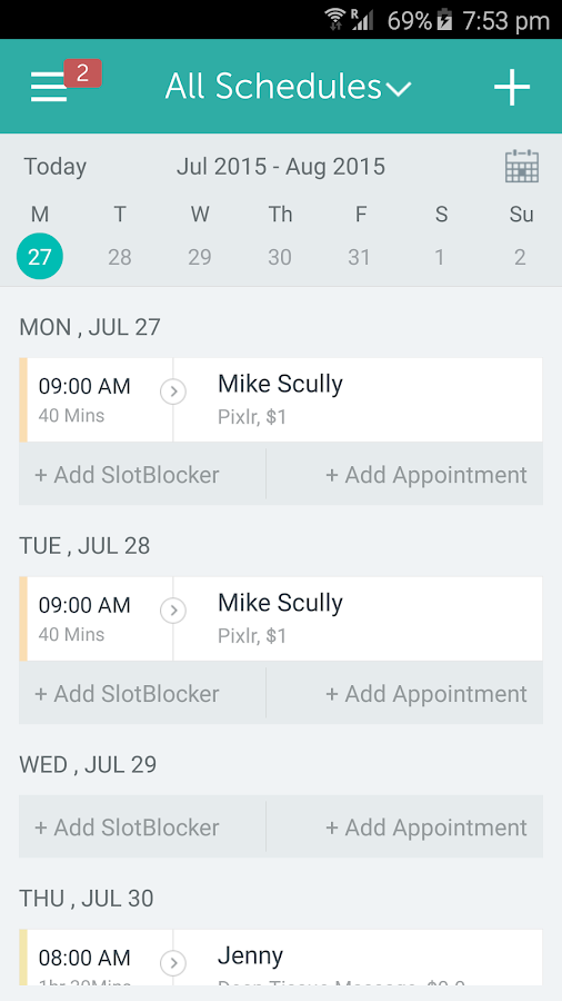 Setmore Appointments- screenshot