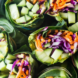 Easy Detox Collard Green Wraps.