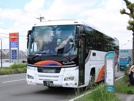 九州産交バス「ひのくに号」 ・705 益城インター口にて