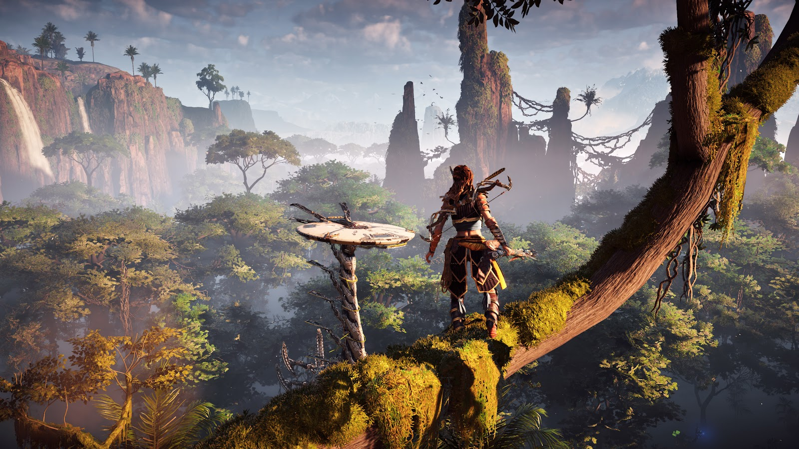 un screenshot d'un paysage du jeu horizon zero dawn