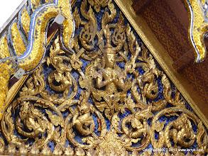 Photo: Detail of building at Wat Phra Kaew.