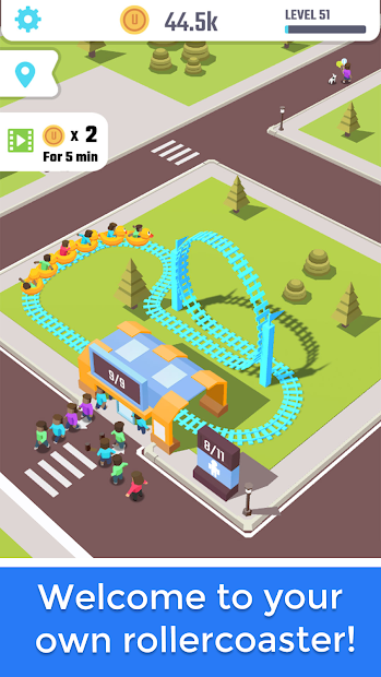 Idle Roller Coaster Android App Screenshot