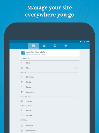 Screenshot 7 for WordPress's Android app'