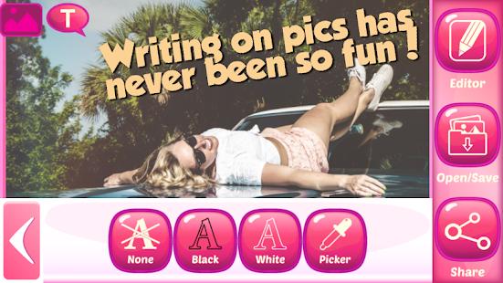 как написать текст под фотографией