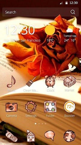 android Book and Flower DIY Theme Screenshot 1