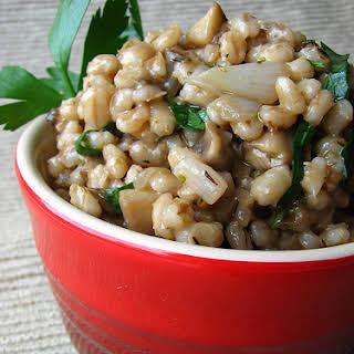 Hearty Mushroom Barley Salad.