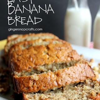 Easy Banana Bread {recipe}