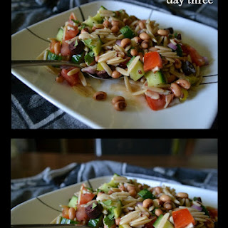 Orzo Salad with Black-Eyed Peas, Olive & Cucumber