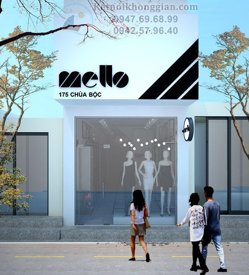 thiết kế cửa hàng thời trang công sở nổi bật tại Chùa Bộc