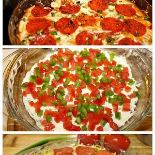Layered Hot Pizza Dip