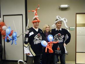 Photo: Muskegon Lumber Jacks Hockey players & friend had some fun