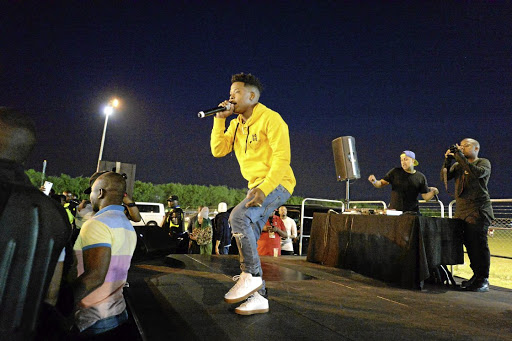 Rapper Nasty C during a performance.
