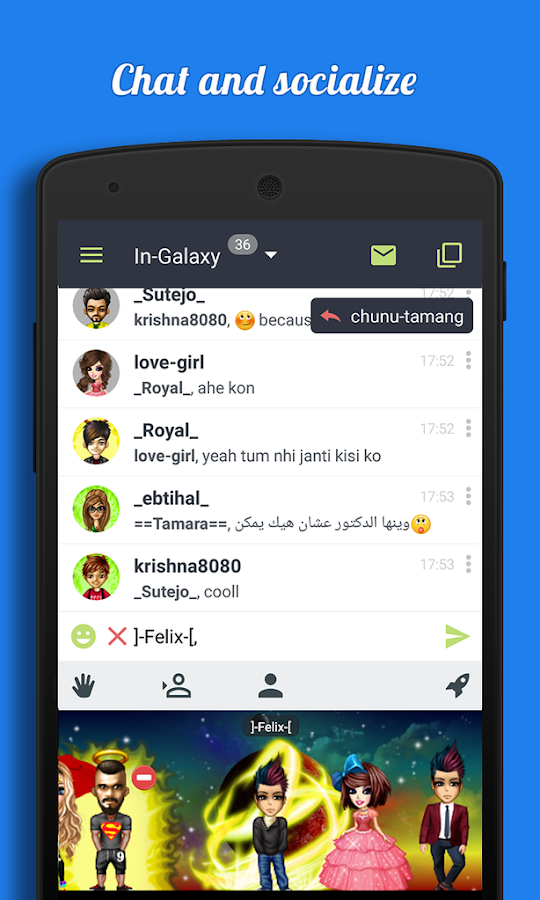 Galaxy - Chat & Meet People- screenshot