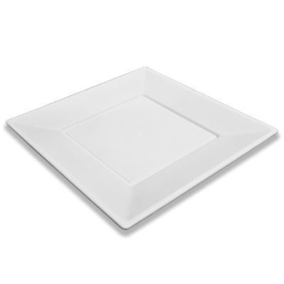 platos plastinova cuadrados 23cm 8und