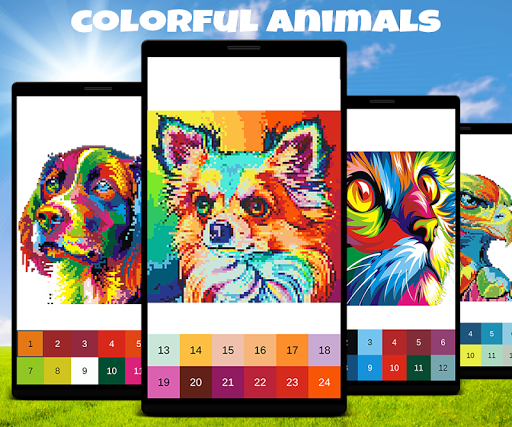 Animals Color by Number: Animal Pixel Art Mod Apk Latest
