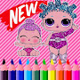 Lol Dolls Coloring Surprise Free APK icon