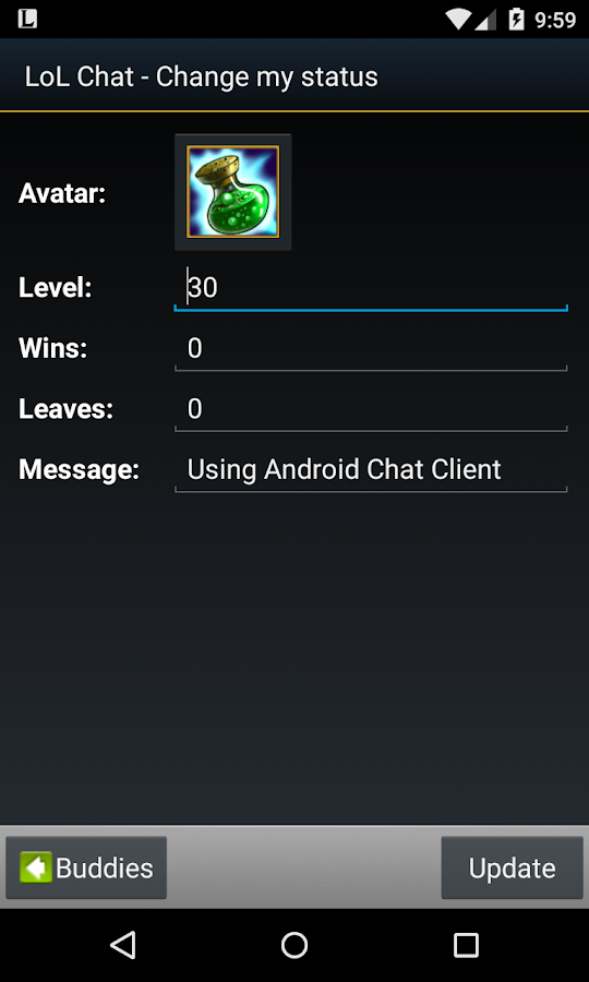 LoL Chat (Free)- screenshot
