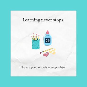 Learning Never Stops - Instagram Post template