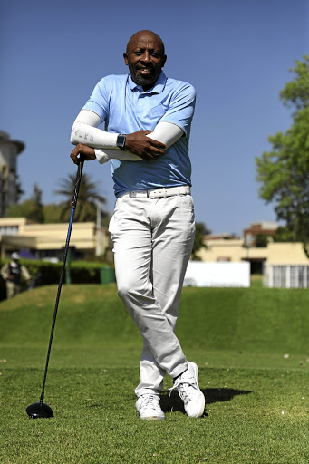 Rams Mabote at the Wanderers Golf Course.