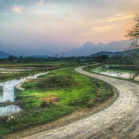 the lone road by Arubam Meitei - Landscapes Travel ( desitnation, travel, road, landscape, photography )