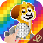 Coloring Art Book. Make your paintings by numbers Icon
