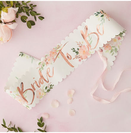 Ordensband Bride to be - Floral Hen