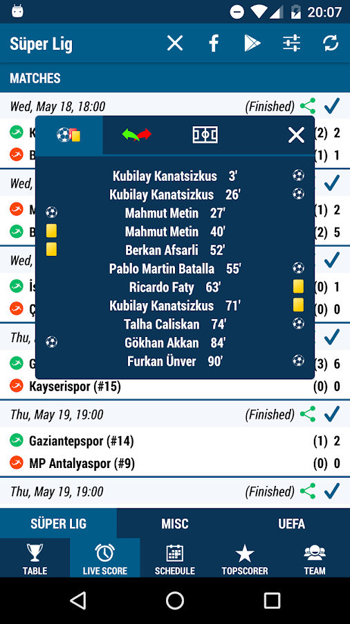 Süper Lig- screenshot
