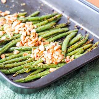 Vegan Pesto Baked Green Beans with Almonds {Gluten-Free}.