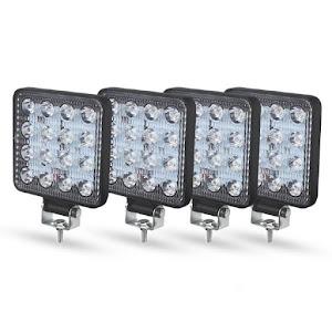 Set 4 proiectoare 16 LED 48W auto OFF-ROAD, IP 67